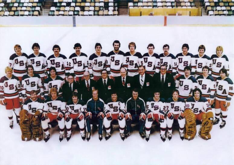 roseau hockey rob harris 1980 US Olympic Team (Gold