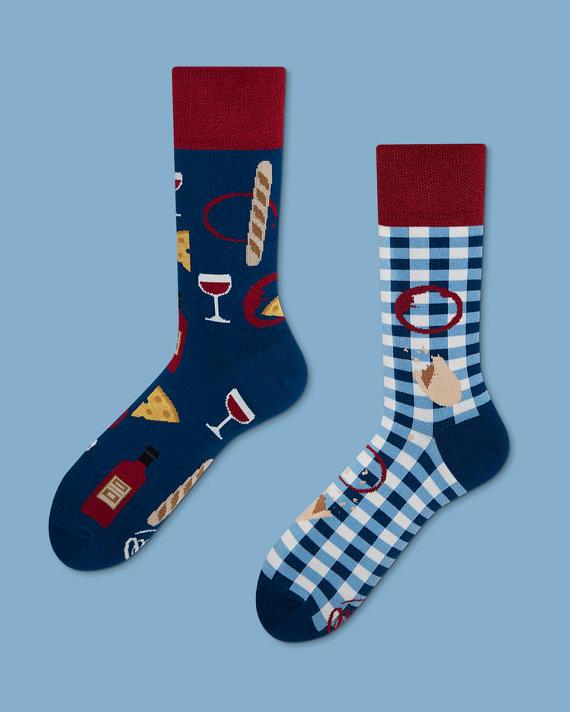 fc0072d17 Bonjour France socks | men socks | colorful socks | mismatched | womens  socks | unique socks | patte