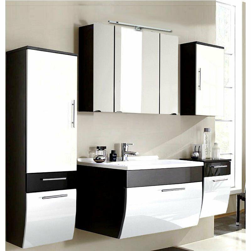 Komplett Badezimmermobel Set Hochglanz 90cm Waschtisch Badmobel Spiegelschrank In 2020 Vanity Bathroom Vanity Double Vanity