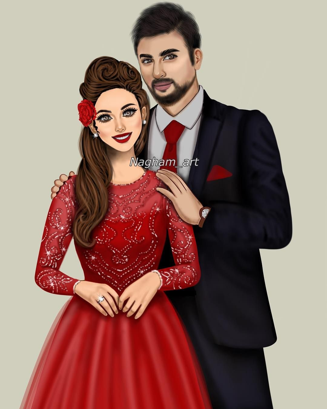 خلفيات بنات كرتونيه رمزيات كرتون للبنات Cute Couple Drawings Beautiful Girl Drawing Cute Couple Art