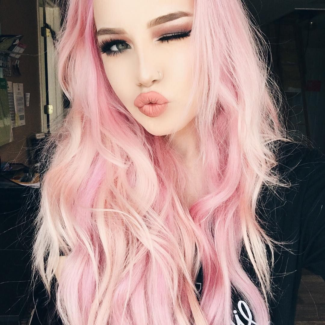 Pink hair donut care yaass girl hailie is perfect in pink with