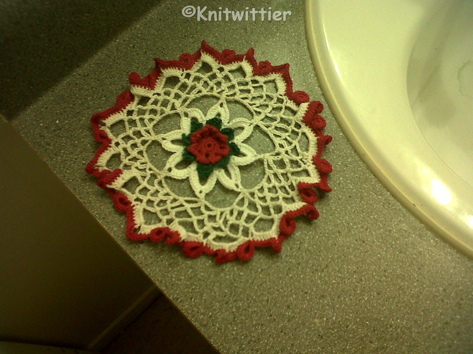 doily I made that didn't turn out quite right