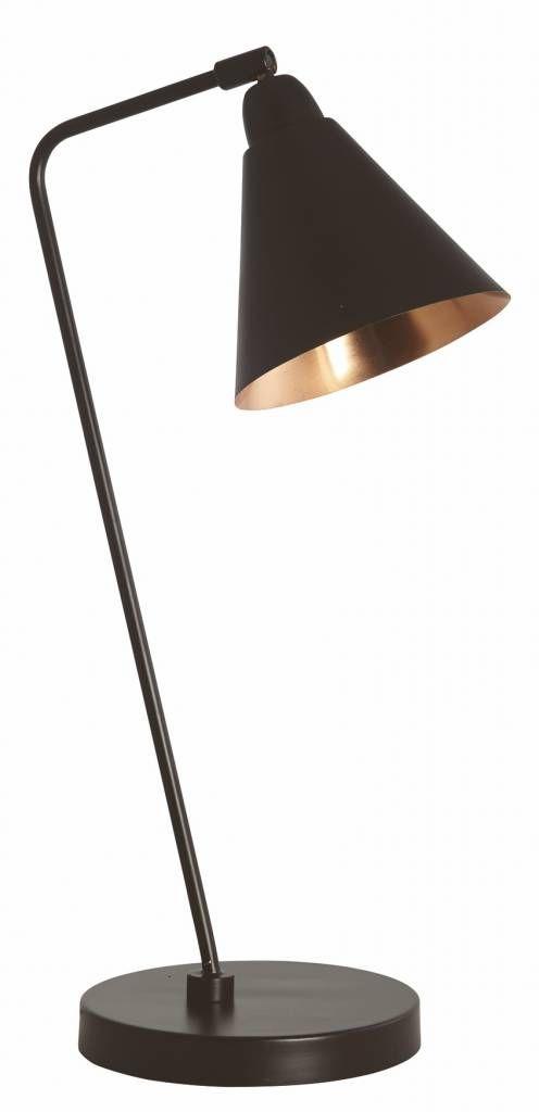 Housedoctor Tafellamp zwart/koper metaal h50cm, Lamp Game