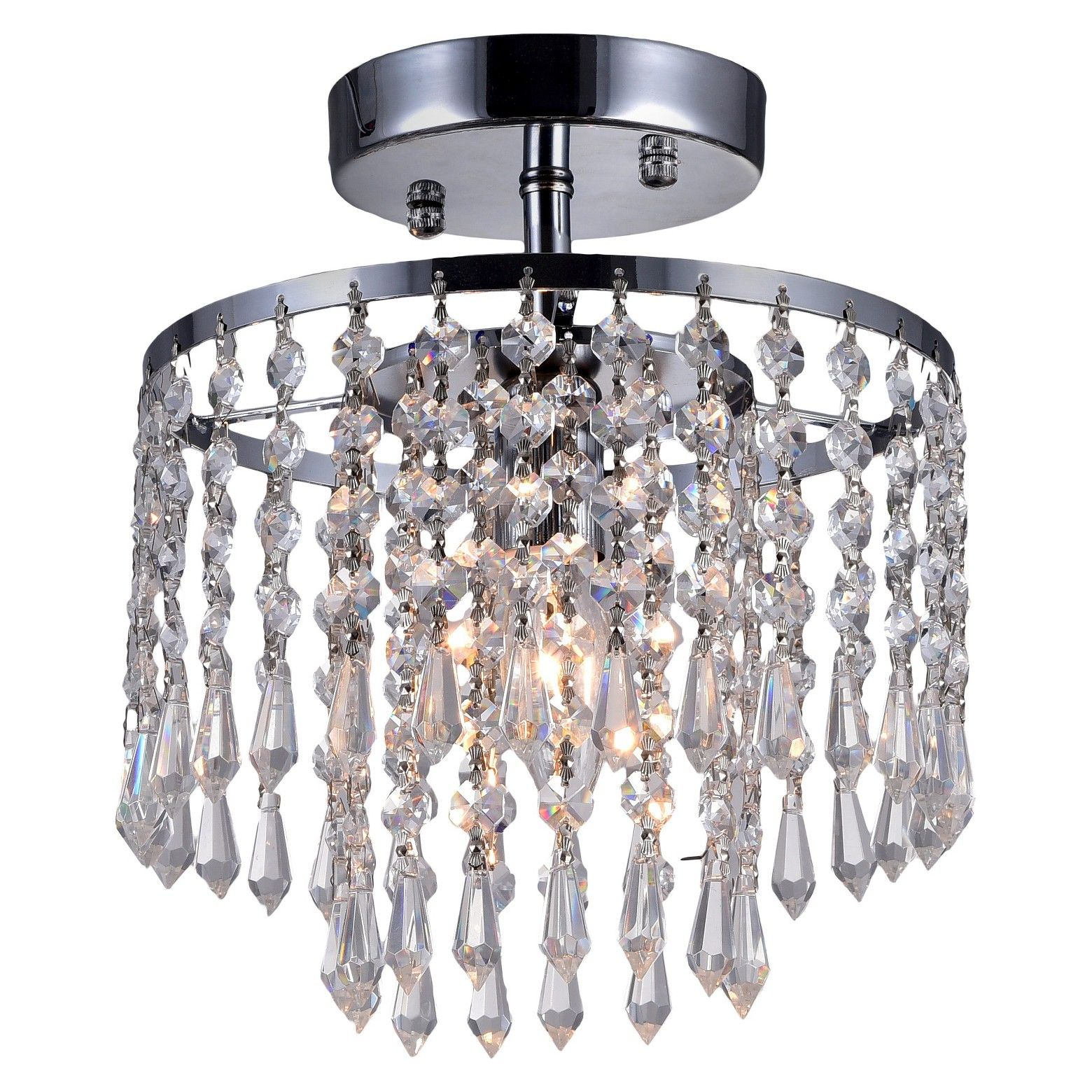 This Warehouse Of Tiffany Silver Ceiling Light Amps Up Its Light Output By Bouncing The Light Off Ceiling Lights Warehouse Of Tiffany Chandelier Ceiling Lights
