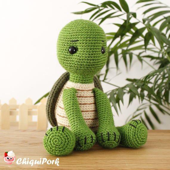 Crochet Turtle PATTERN Amigurumi Turtle pattern pdf tutorial – Willy the Turtle
