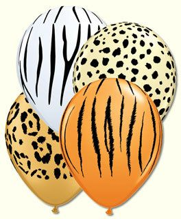 12 pc + Safari Animal Print Latex Balloons Happy Birthday Party Teen Jungle Kids