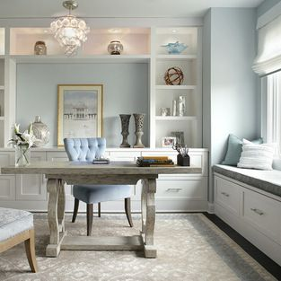 Contemporary Feminine Home Office Home Office Design Ideas, Pictures on unique home office design, cottage style home office design, family home office design, contemporary home office design, simple home office design, classic home office design, funky home office design, white home office design, modern home office design, beautiful home office design, casual home office design, small home office design, traditional home office design, retro home office design, woman home office design, natural home office design, cool home office design, creative home office design, floral home office design, clean home office design,