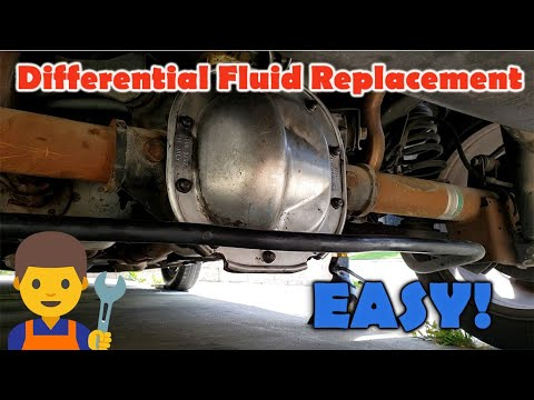 How to Change Rear Differential Fluid - Differential Gear Oil Flush (Mustang GT) - YouTube