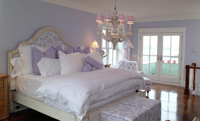 lavendel farbe farbtrend wände schlafzimmer dekokissen Farben - schlafzimmer farbidee
