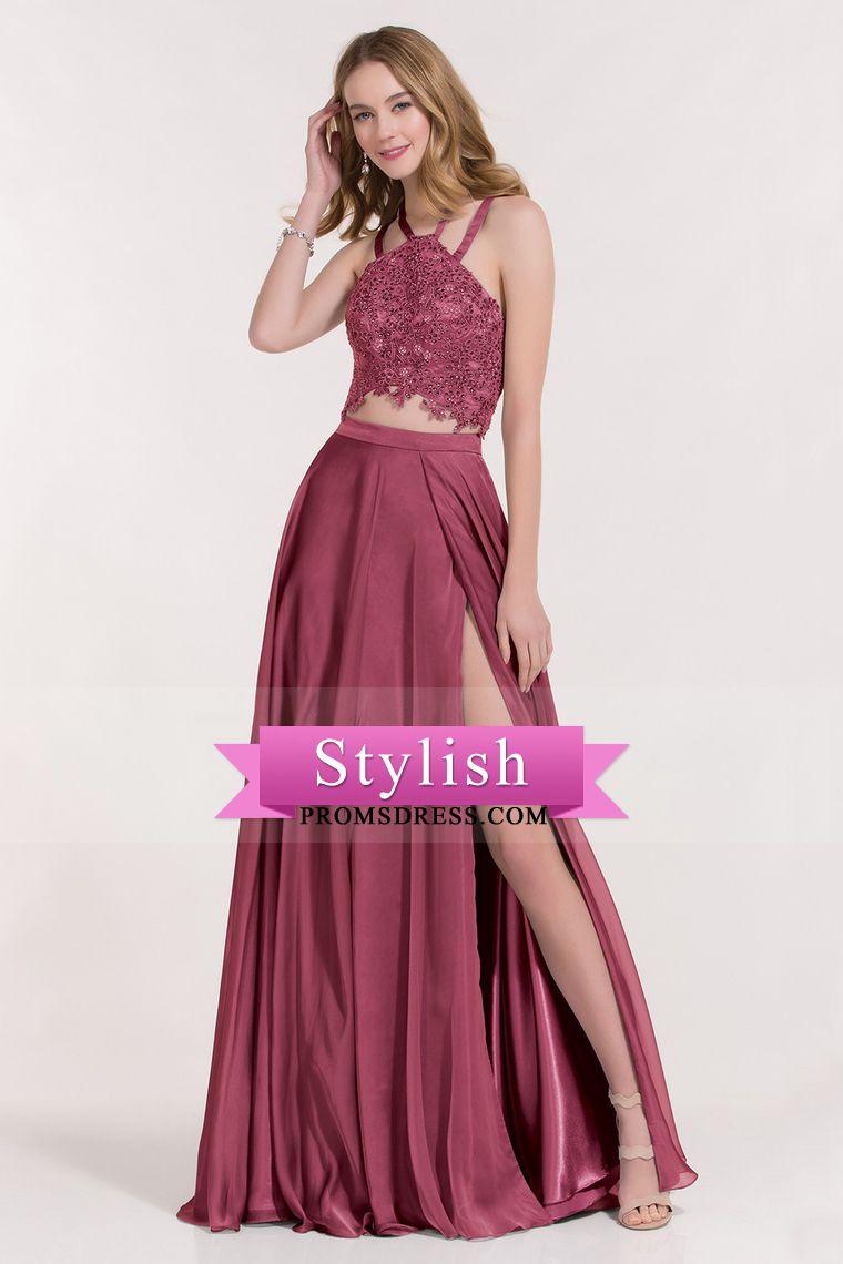 2017 Spaghetti Straps Prom Dresses A Line Open Back With Applique ...