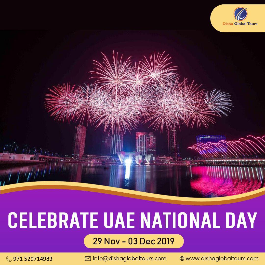 Celebrate with us 48 years of unification of United Arab Emirates at UAE National Day 2019 in Dubai.  #dishaglobaltours #uaenatinalday #uae #nationalday #unitedarabemirates #mydubai #visitdubai #visituae #myuae #jumirah #sharjaha #mysharjah #dubaigram #dubaitag #dubai #picoftheday #abudhabi #umalquwain #myabudhabi #fujairah #sharjahuae #mydxb #rasalkhimah #iloveuae #celeberationtime #uaenationalday2019 #flagdayuae #uaeflagday2019 #celeberationday #uaelife