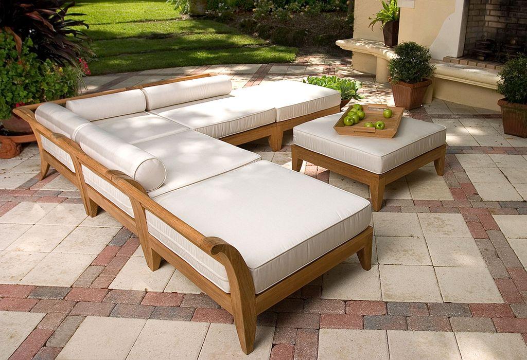 Aman Dais 6 Pc Daybed Westminster Teak Pallet Garden Furniture Outdoor Wood Furniture Teak Outdoor Furniture
