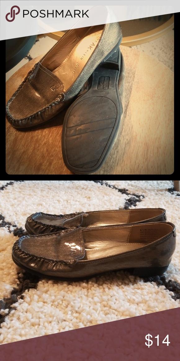 Anne Klein iflex shoes Metallic grey
