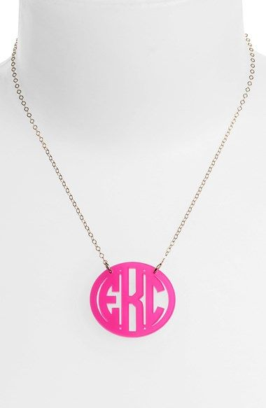 Moon and Lola Medium Oval Personalized Monogram Pendant Necklace (Nordstrom Exclusive) available at #Nordstrom...Coolest monogram pendant, it comes in gold, silver, rose gold,+ so many other colors!  Only $78.00...I Heart this !