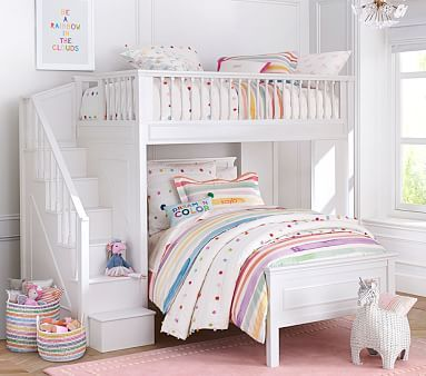 Fillmore Stair Loft Bed Amp Lower Bed Set With Images