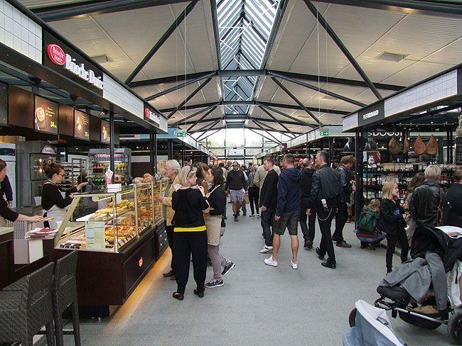 Torvehallerne Large Indoor Food Market In Central Copenhagen Denmark Copenhagen Supermarket Design Denmark