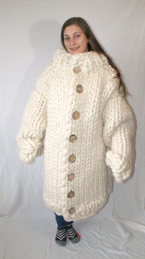 12 kg coat gigantic monster extreme knitting giant wool coat