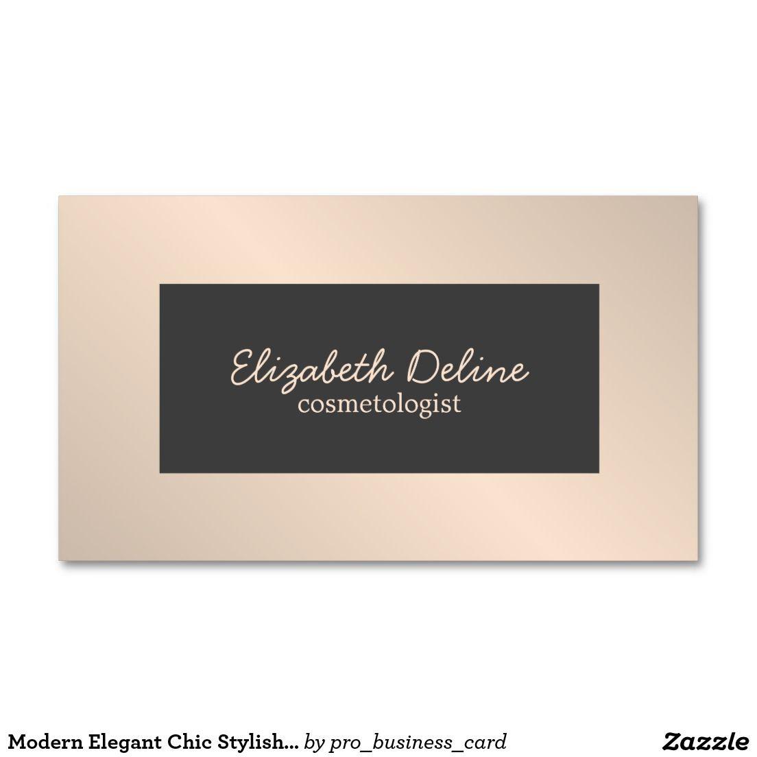 Modern Elegant Chic Stylish Cosmetologist Business Card | Business ...