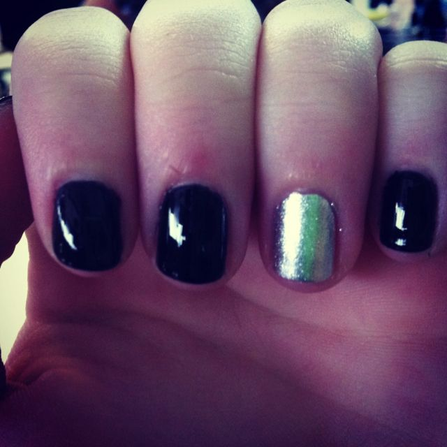 All black one silver