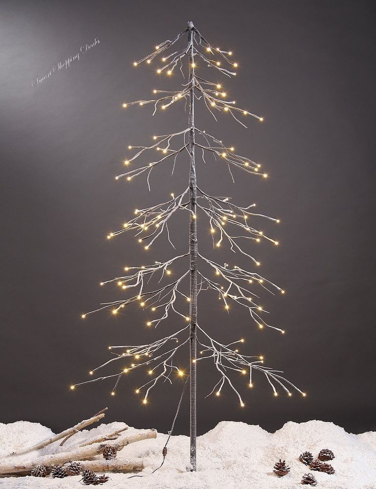 5 Ft Fir Snow Tree 144L LED Lights Christmas Decoration Yard Decor