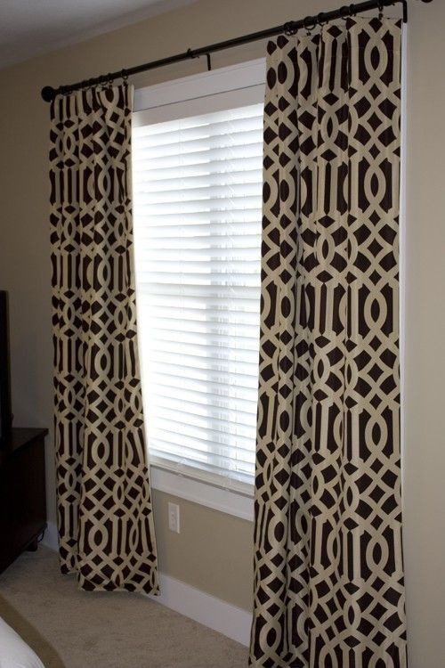 Fretwork Curtains | Reserved For Kristen / Imperial Trellis Drapery Panels  / Java And .