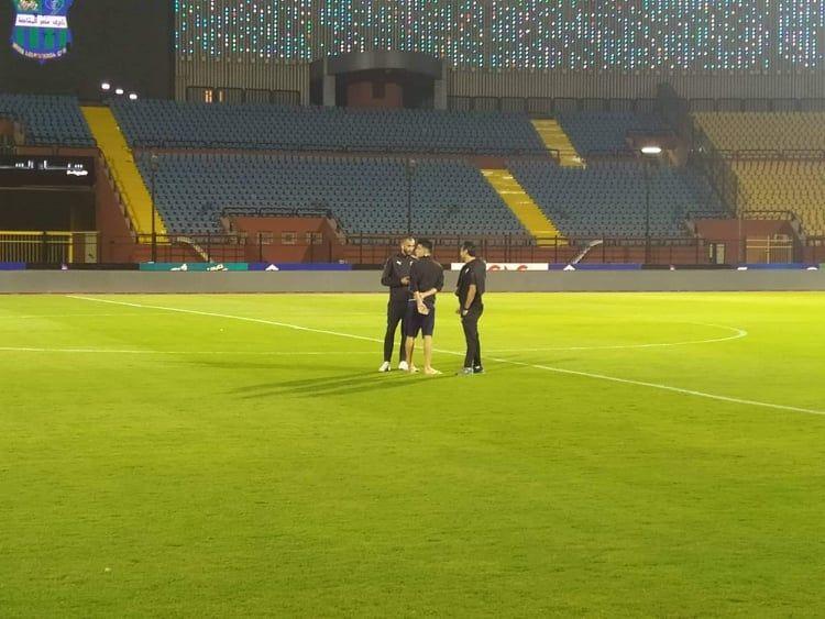 بث مباشر بالصور الزمالك يصل ملعب السلام ويتفقد أرضية الملعب ولقاء ميدو مع ميتشو Soccer Field Soccer