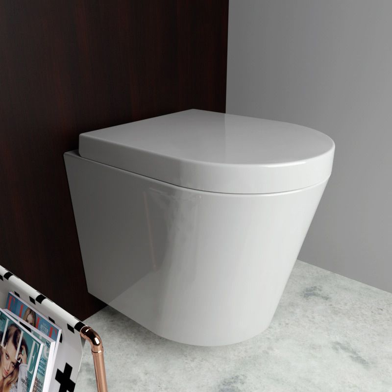 Wc Suspendu Rimless Abattant Vigo Wc Suspendu Toilette Suspendu Decoration Toilettes
