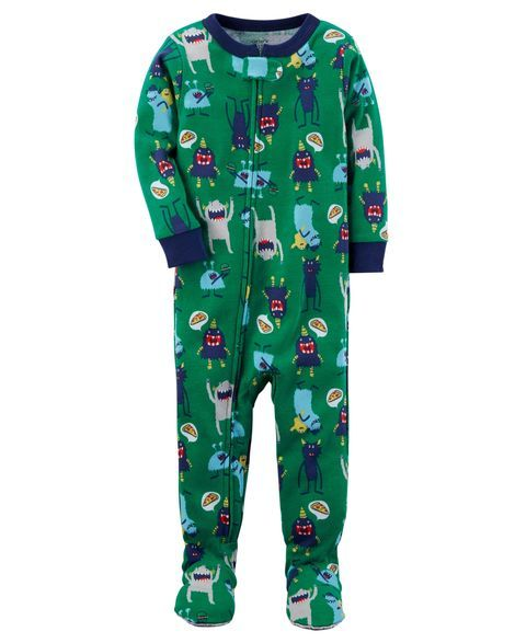 6b9d89944c46 1-Piece Monster Snug Fit Cotton PJs