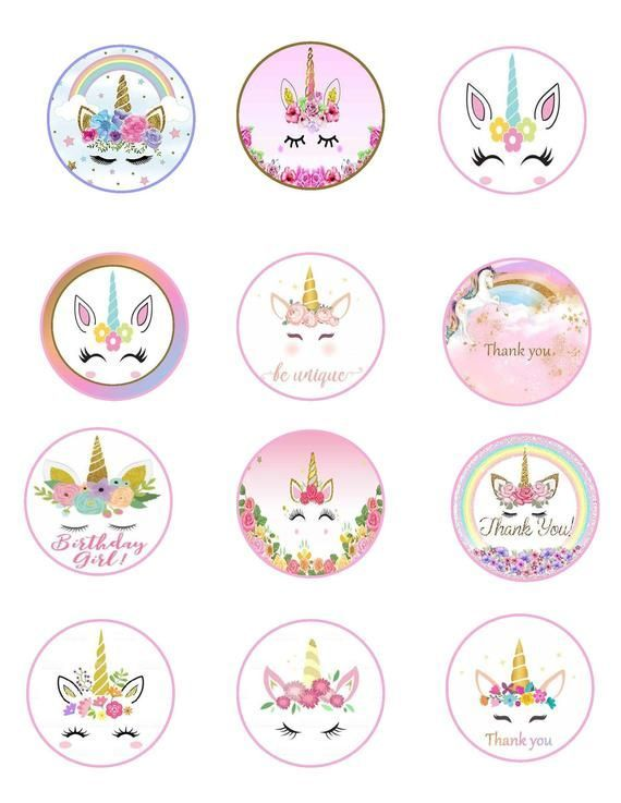Best 12 Free Printable Unicorn Cupcake Toppers - Paper ...