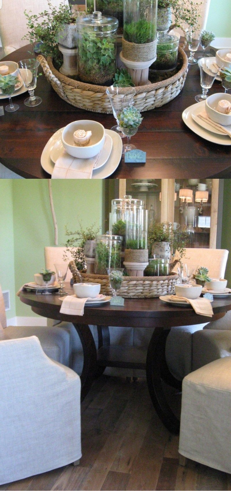 Simple Table Setting Ideas Dining Table Centerpiece Dining