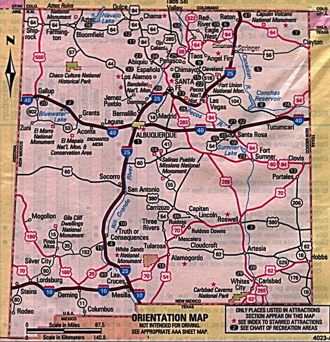 Map Of New Mexico Cities And Towns And Lakes New Mexico Maps And - Nm map