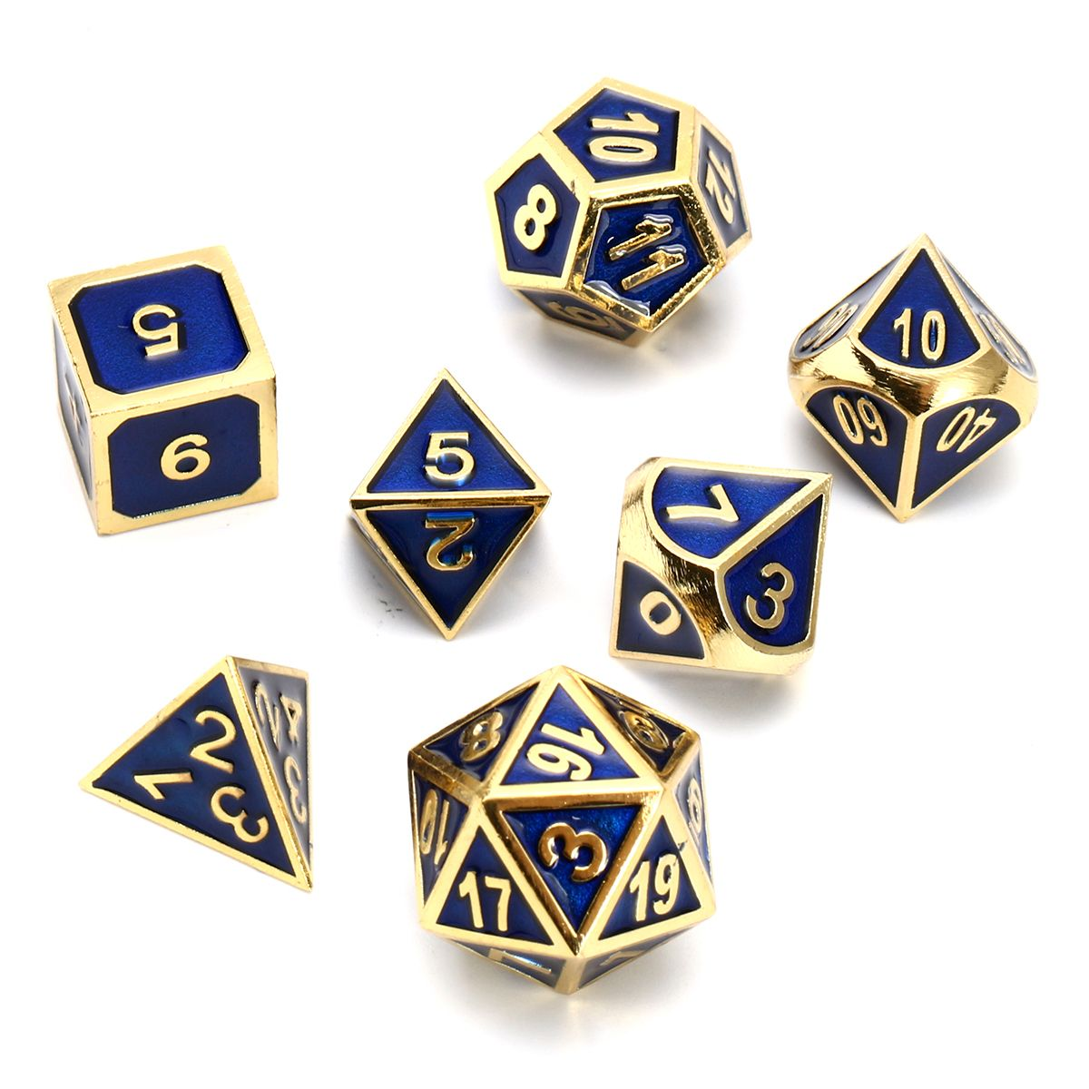 Wiz Dice Set of 8 Masterwork Precision Aluminum Polyhedrals with Laser-Etched Strongbox by Choose from 8 Anodized Colors Malachite
