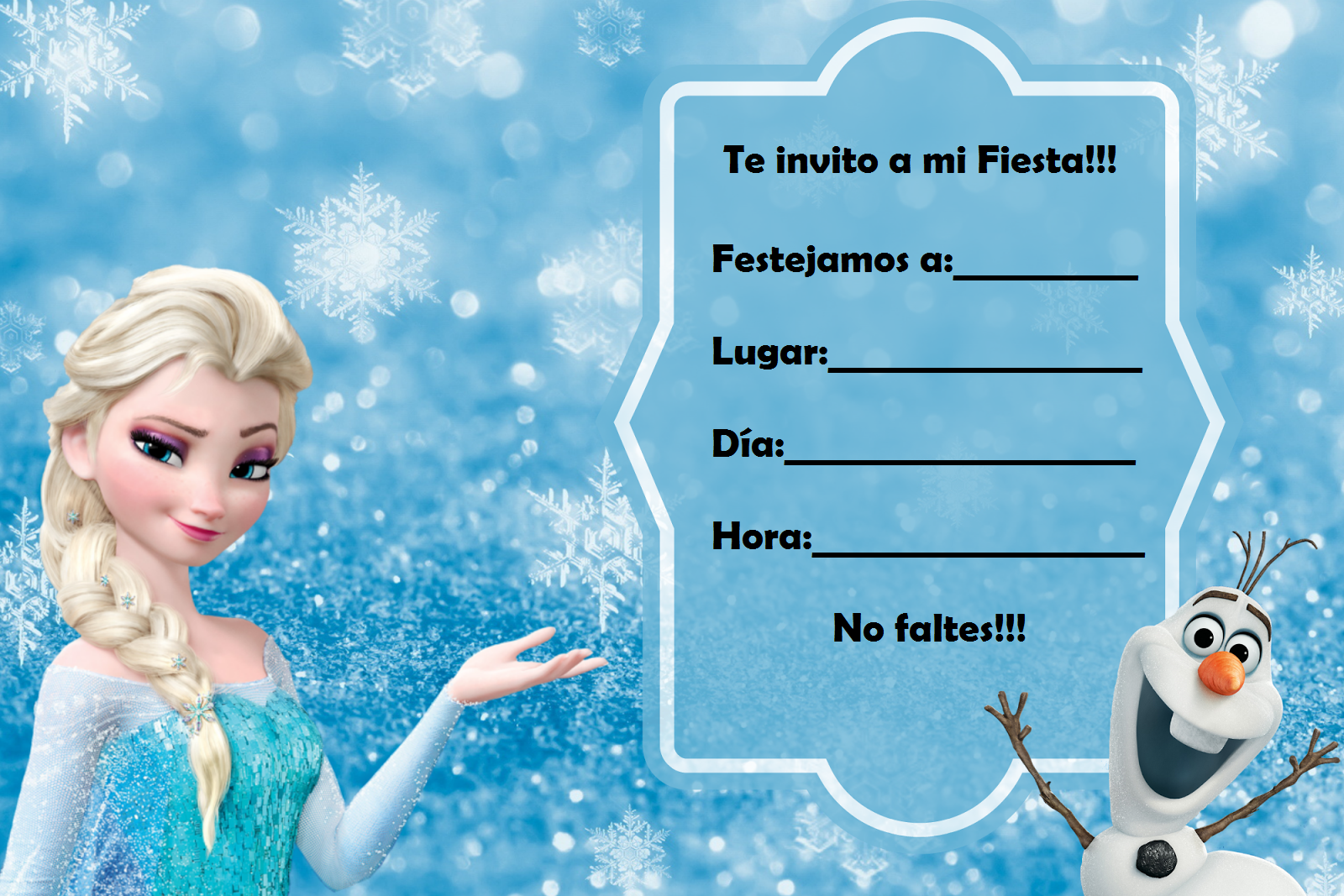 Pin De Wendy Carrasco En Frozen Tarjetas De Invitacion