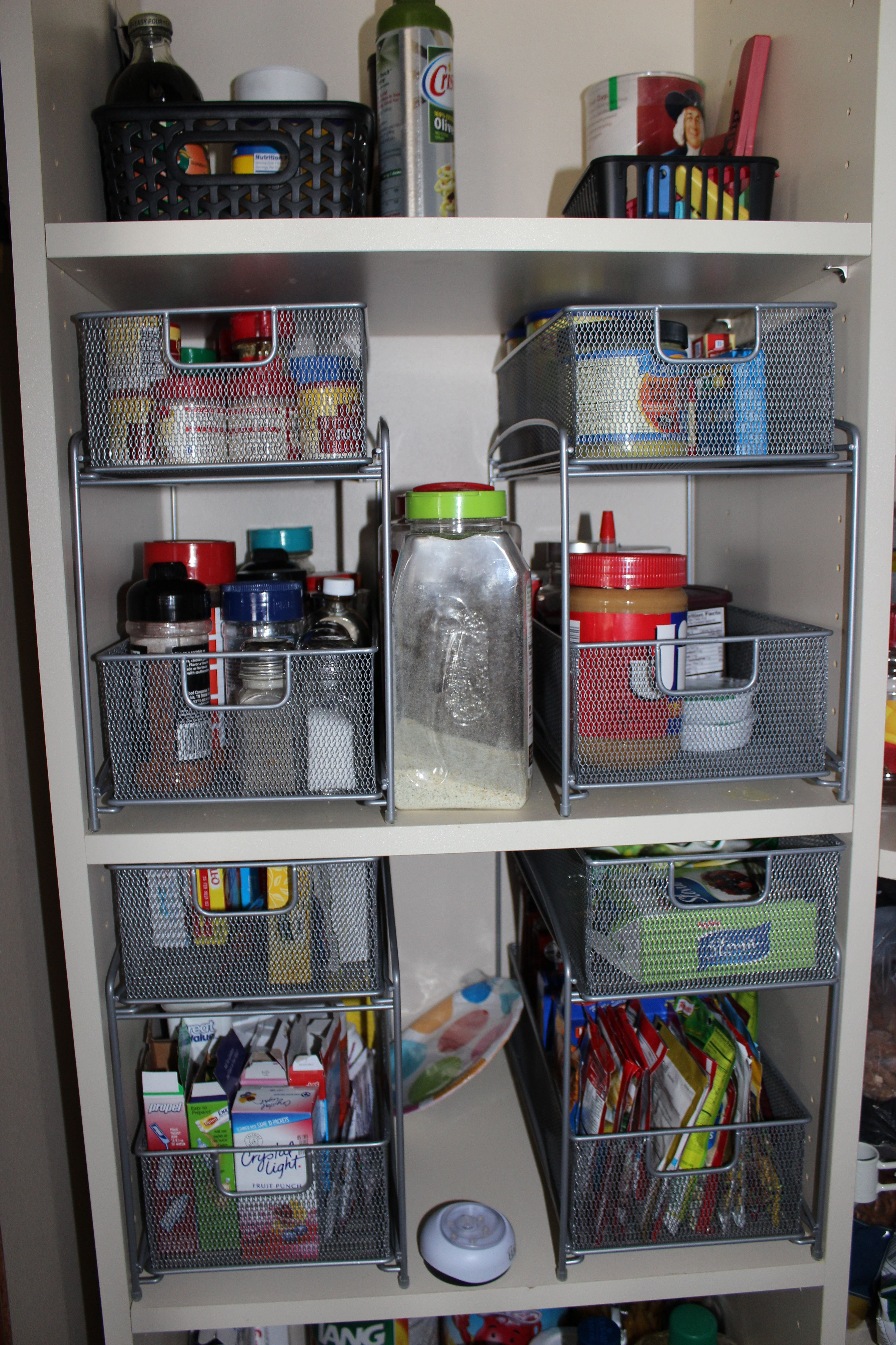 Organizers From Bed Bath And Beyond Worked Great For Those Pantry
