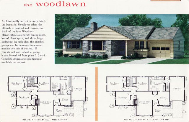 Mid Century Modest Ranch House Google Search Vintage House Plans House Plans Model Homes