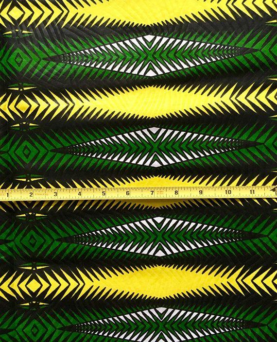 African Print Fabric Dutch Wax Ankara Green Yellow Black African Print Fabric Printing On Fabric Fabric