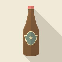 フラットデザインのアイコン ビール瓶のアイコン素材 ビール瓶 アイコン素材 フラットアイコン