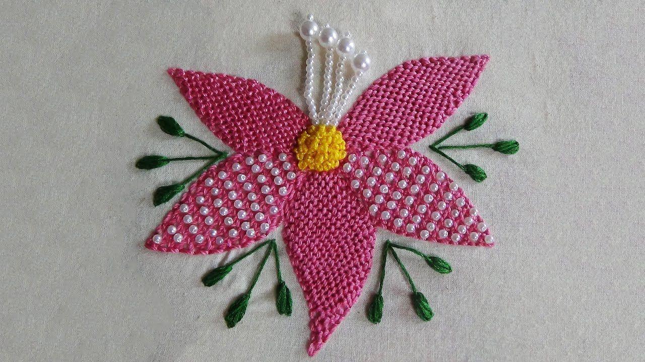 Hand embroidery trellis stitch bordados pinterest hand