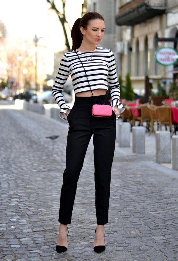 Dress top black pants