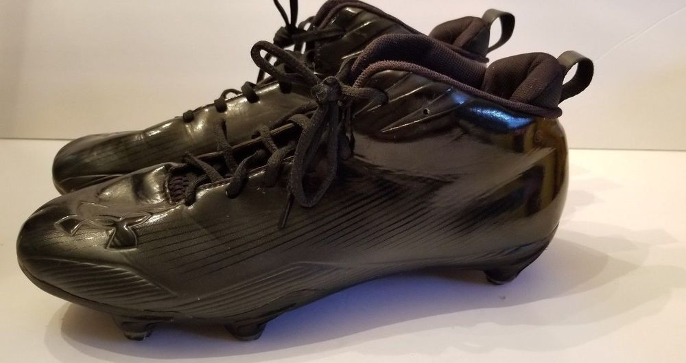 Under armour all black football lacrosse cleats spikes