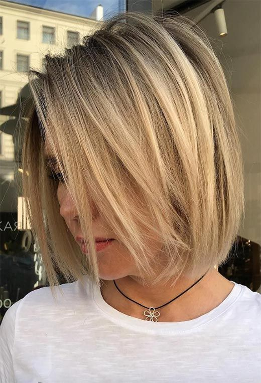 55 Medium Bob Haircuts To Embrace The One Mid Length Bob For You In 2020 Medium Bob Haircut Straight Bob Hairstyles Shoulder Length Bob Haircut