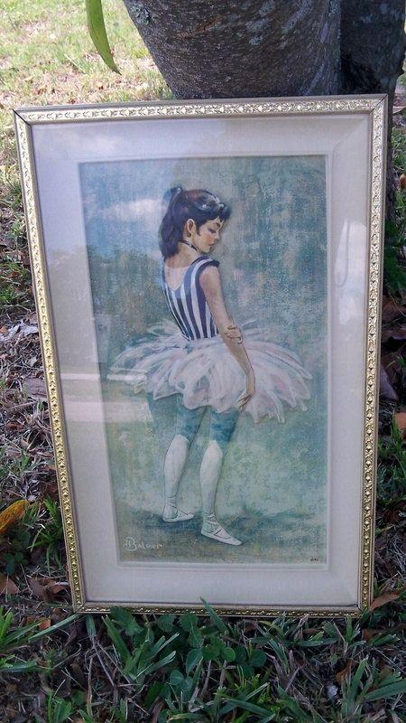 J. Balmer Framed Ballerina Embossed Print by LoriannsVarietyShop ...