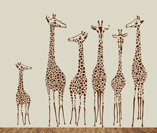 Kinderzimmer wandgestaltung giraffe  kinderzimmer-wandtattoo-giraffen-familie.jpg (600×509) | deko wand ...