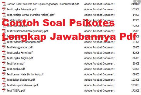 Soal Psikotes Jawabannya Pdf Download Contoh Soal Psikotes Pdf