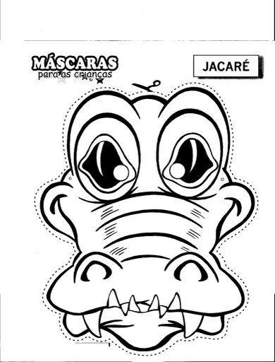Crocodile mask cut out | Dibujos patrones Xa pintar o Xa ...