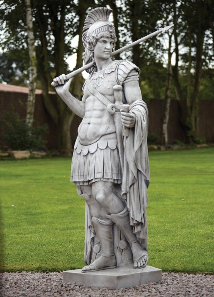 Roman Gladiator Stone Sculpture   Large Garden Statue. Buy Now At Http://