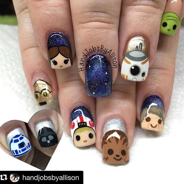 Cutie Star Wars ❤ #movicure #Repost @handjobsbyallison with @repostapp ・・・ Star  Wars Tsum Tsum ✨ #handjobsbyallison #nails #nailart #nailpolish … - Cutie Star Wars ❤ #movicure #Repost @handjobsbyallison With