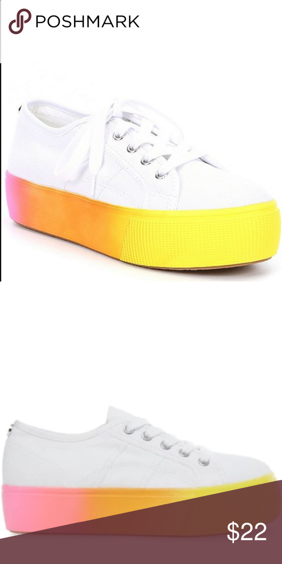 Facilitar desmayarse En otras palabras  NWT Steve Madden Rainbow Platform Shoes Brand new, size 9 but fits more like  8.5. Steve Madden Shoes Sneakers | Steve madden shoes sneakers, Platform  shoes, Shoes