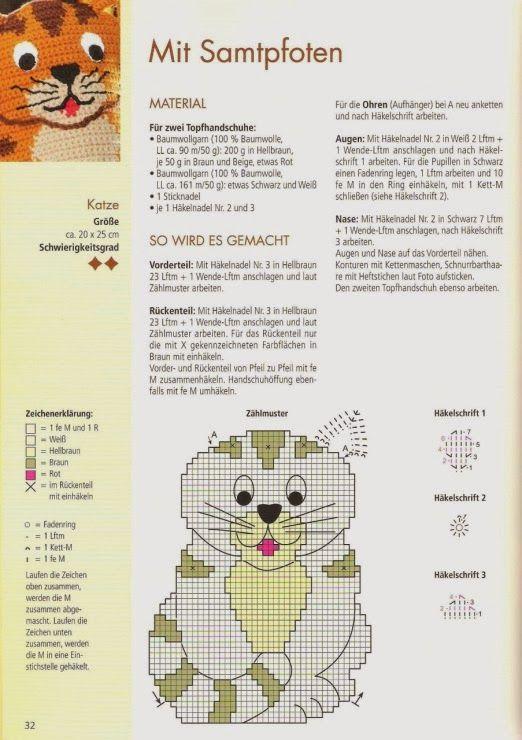CARAMELO DE CROCHET: manoplas de gato | Crochet | Pinterest ...