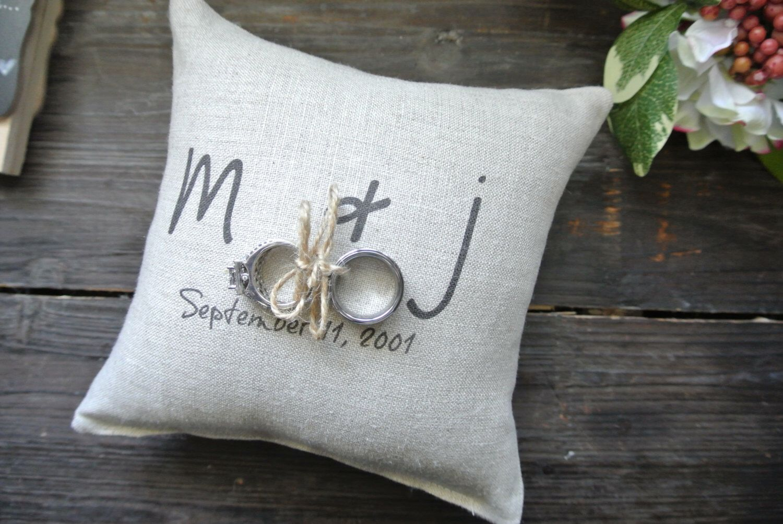 Ring Bearer Pillow Personalized Ring Bearer Pillow Rustic Wedding Ring cushion Personalized Ring Holder Ring Pillow Ring Pillow